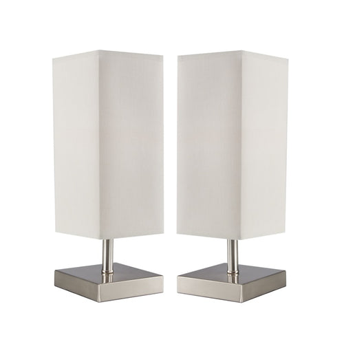 RIDLEY SQUARE DOUBLE PACK TABLE LAMP SET - Lighting.co.za