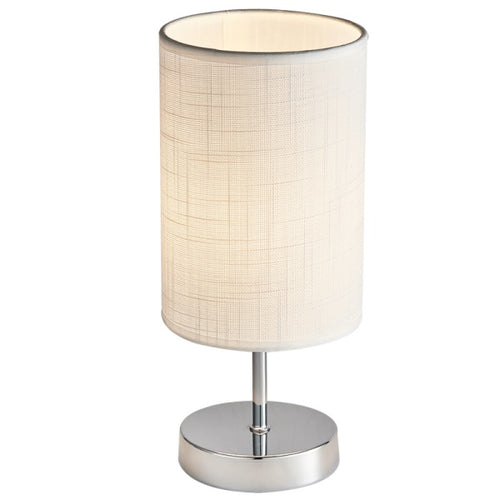 Ridley Small Chrome Bedside Table Lamp - Lighting.co.za