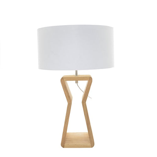 DAVENPORT OAK WOOD TABLE LAMP SET - Lighting.co.za