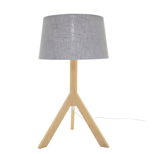 LUNA TRIPOD OAK WOOD TABLE LAMP SET - Lighting.co.za