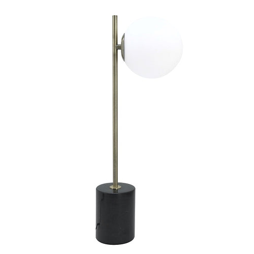 Trevi Sphere and Stem Marble Table Lamp - Lighting.co.za