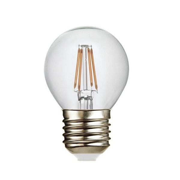 E27 G45 Clear Golf Ball LED Filament Bulb 4W 2700K Dim K - Lighting.co.za