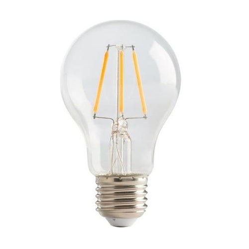 E27 A60 Clear LED Filament Bulb 4W 2700K Dim K - Lighting.co.za
