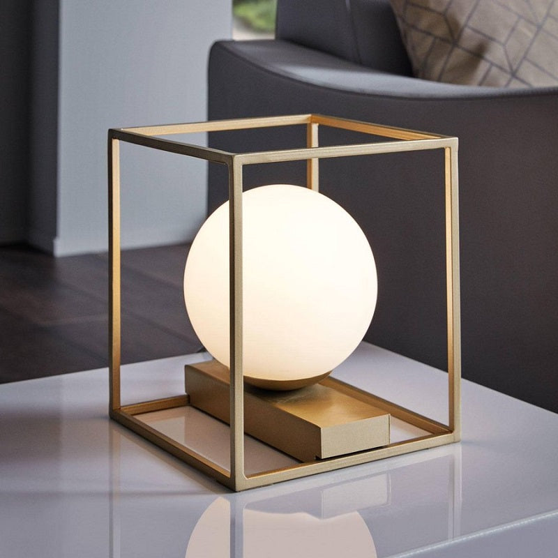 Vallaspra Gold and Frosted Glass Table Lamp - Lighting.co.za