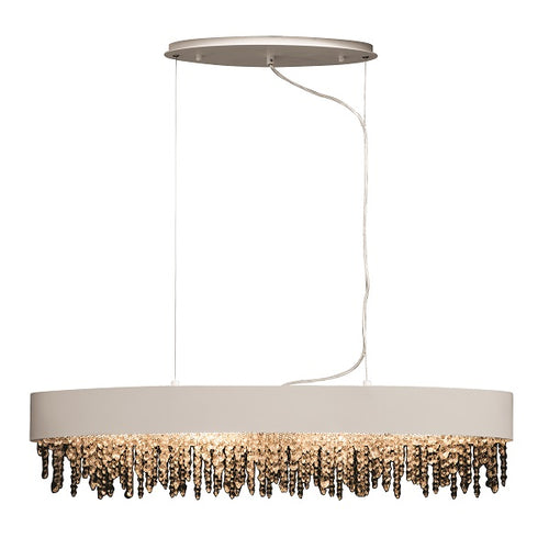 Stella Round Or Oval K9 Crystal Shade Chandelier - Lighting.co.za