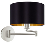 Maserlo Taupe Or Black And Gold Arm Wall Light - Lighting.co.za