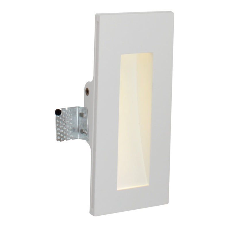 Gypsum 1W LED Tall Recessed Wall Light - Lighting.co.za