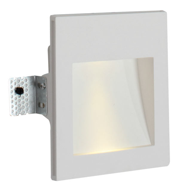 GYPSUM SQUARE RECESSED WALL LIGHT 2 OPTIONS - Lighting.co.za