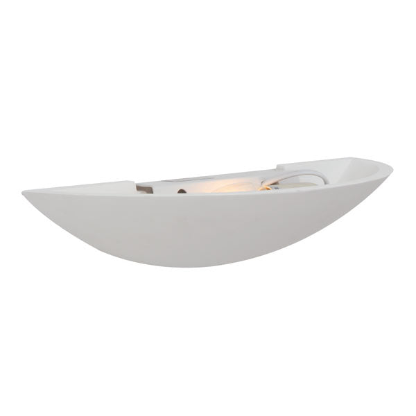Gypsum White Half Round Stacey Wall Light - Lighting.co.za