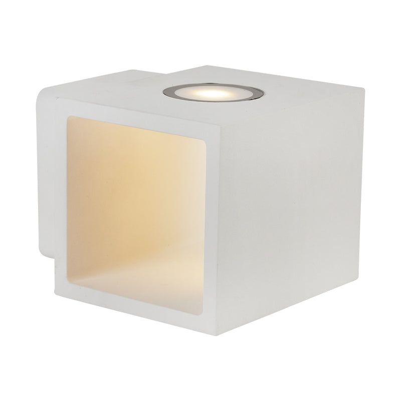 Cube Black Or White 14 Watt LED Wall Light - Lighting.co.za