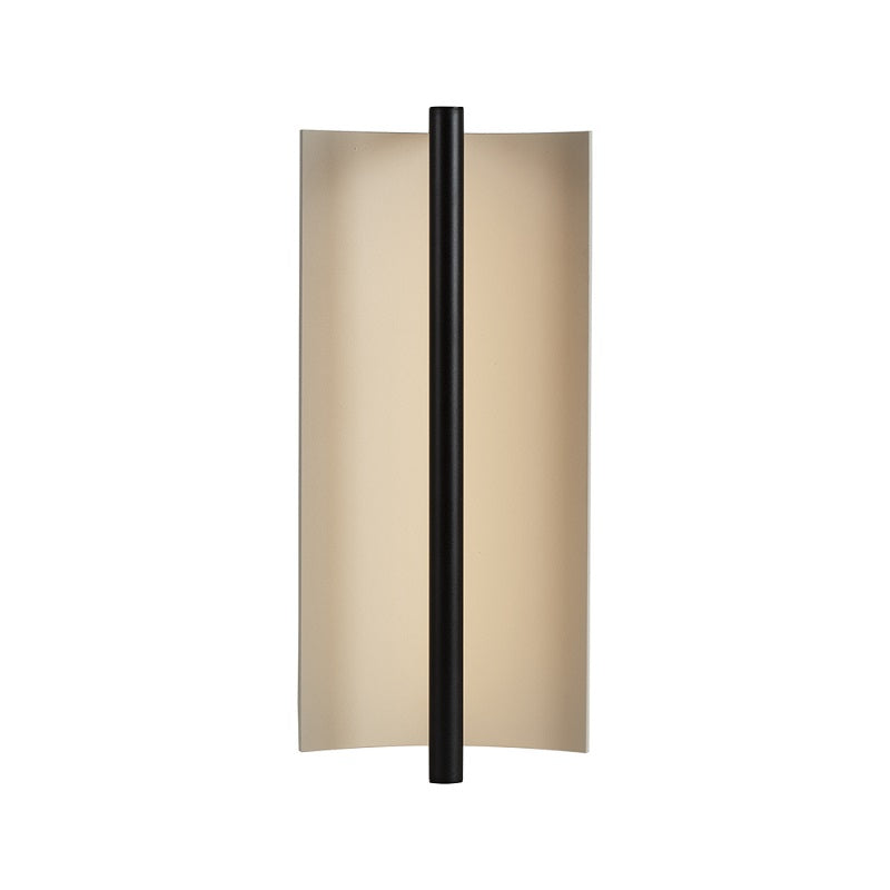 Luna Rectangular Black And White LED Wall Light - Lighting.co.za