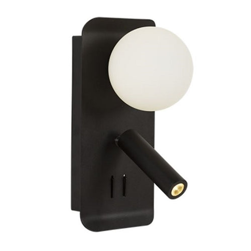 ABC Bedside Reading Wall Light With USB Port - Lighting.co.za