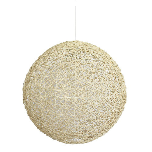 Abode Woven Resin String Ball Pendant Range Available In 3 Sizes - Lighting.co.za