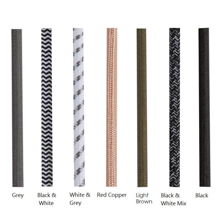 Fabric Cord 3 Core Per Meter - Lighting.co.za