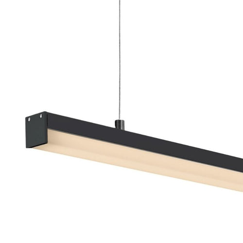 Alantra 16W LED Linear Black profile Pendant with Short PC Cover SOLD PER METER - Lighting.co.za