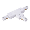 Track 3 Wire T Connector With Power Feed - Black Or White - Lighting.co.za