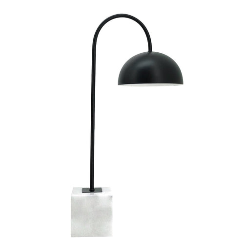 Chester Black And Marble Arco Table Lamp - Lighting.co.za
