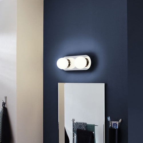 Mosiano LED Chrome 2 Light Bathroom Ceiling or Wall Light - Lighting.co.za