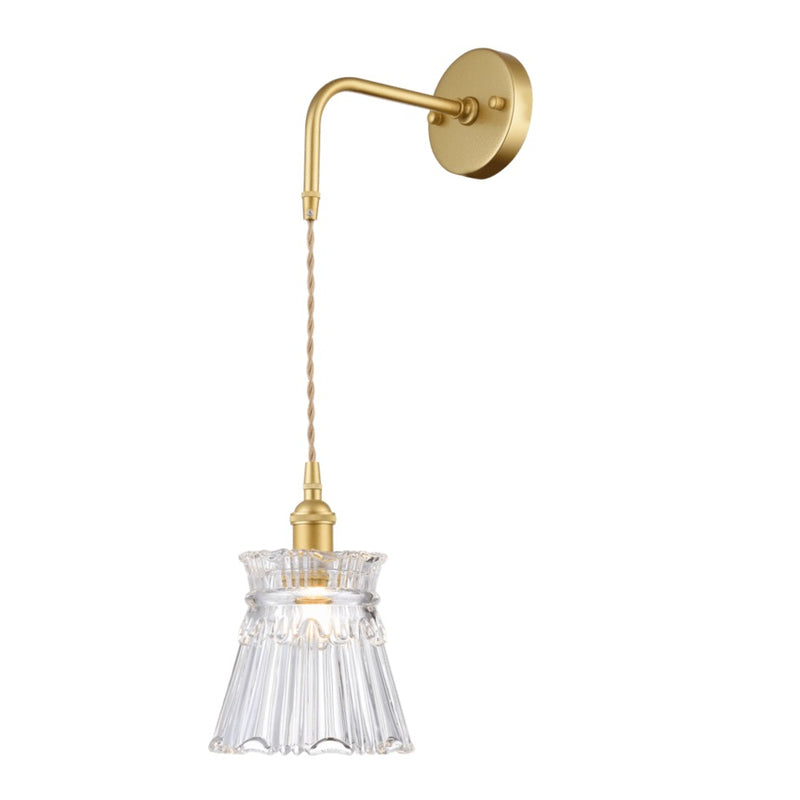 Arla Satin Gold Vintage Cut Glass Wall Light - Lighting.co.za