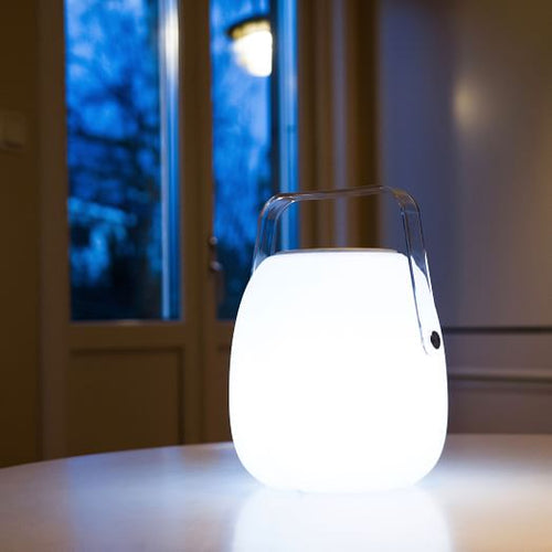 Mooni Opal Speaker Lantern With Clear Handle - Lighting.co.za