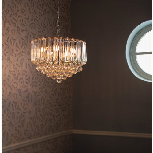 Otis Clear Acrylic And Chrome 3 | 5 Light Chandelier - Lighting.co.za