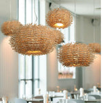 AVI NEST WOVEN RESIN NATURAL PENDANT LIGHT