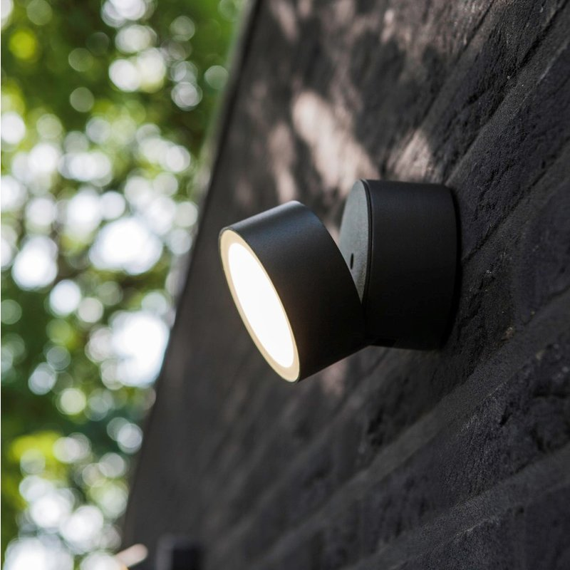 Trumpet Graphite Black 11 Watt LED Outdoor Wall Light - Lighting.co.za