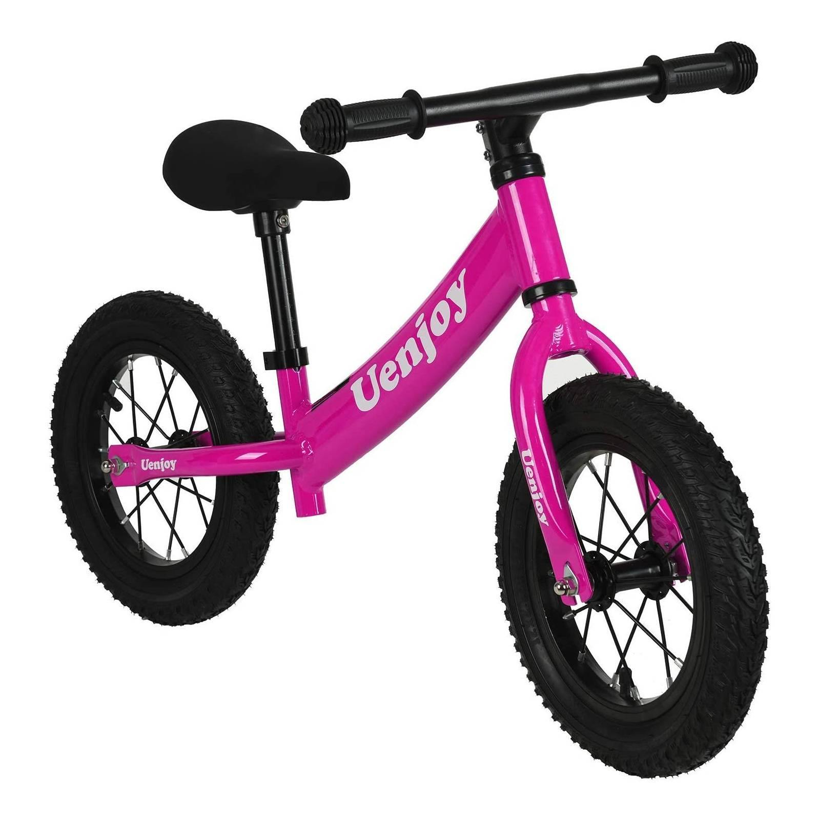 Uenjoy Kids Balance Bike No Pedal Bicycle for 2-4 Years Old, Pink 4