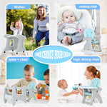 Load image into Gallery viewer, Uenjoy 5 in 1 Baby High Chair Dining Chair, Rocking Chair, Walker