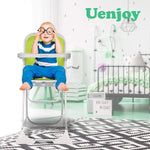 Load image into Gallery viewer, Uenjoy Baby High Chair Dining Chair, One-Click Folding, with Safety Belt