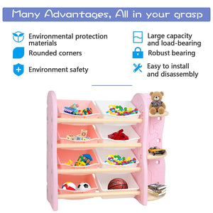Kids Toy Storage Rack - Uenjoy
