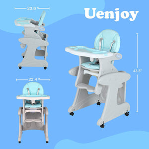 Uenjoy 5 in 1 Baby High Chair Dining Chair, Rocking Chair, Walker