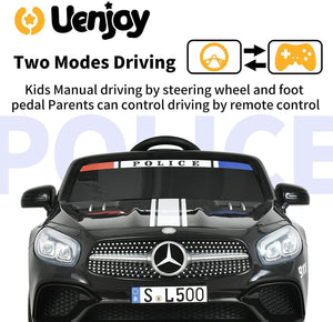 12V Kids Licensed Ride On Mercedes-Benz SL500 with Remote Control, Colorful Lights, Music Player
