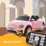 Load image into Gallery viewer, 12V Kids Licensed Ride-On Volkswagen Beetle with Remote Control, Colorful Lights, Music Player(In Stock:Mar.7)