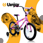 Load image into Gallery viewer, Uenjoy 18 inch  Kids Bike, with Kickstand Child's Bike, Boys Girls Bicycle, Easy to assemble