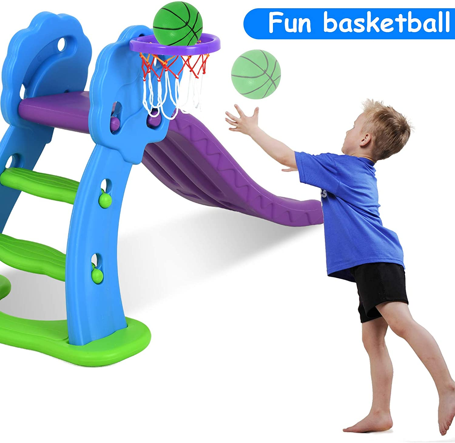 Uenjoy Kids Climber Indoor and Outdoor Freestanding Slide Playset
