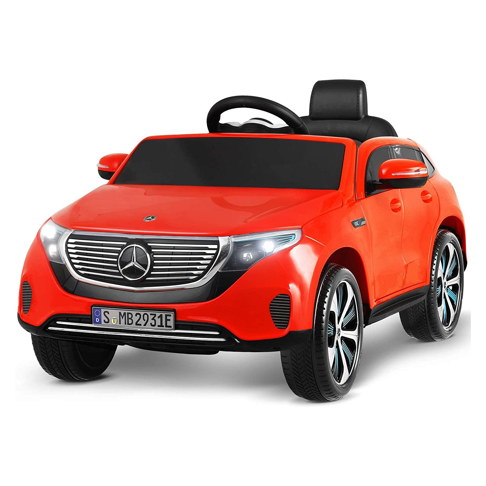 12V Kids Licensed Ride-On Mercedes-Benz EQC 400 with Remote Control, Colorful Lights, Music Player