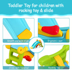 Load image into Gallery viewer, Uenjoy 2 in 1 Toddler Slide & Rocking Toy, Lightweight Sturdy Portable Play Slide Climber for Children