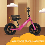 "Load image into Gallery viewer, Uenjoy Kids Balance Bike, No Pedal Bicycle for 2-4 Years Old, with 12"" EVA Polymer Foam Tire, Height Adjustable, Straight Frame"