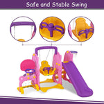 Load image into Gallery viewer, Uenjoy 4-in-1 Slide and Swing Set for Toddlers, Play Climber
