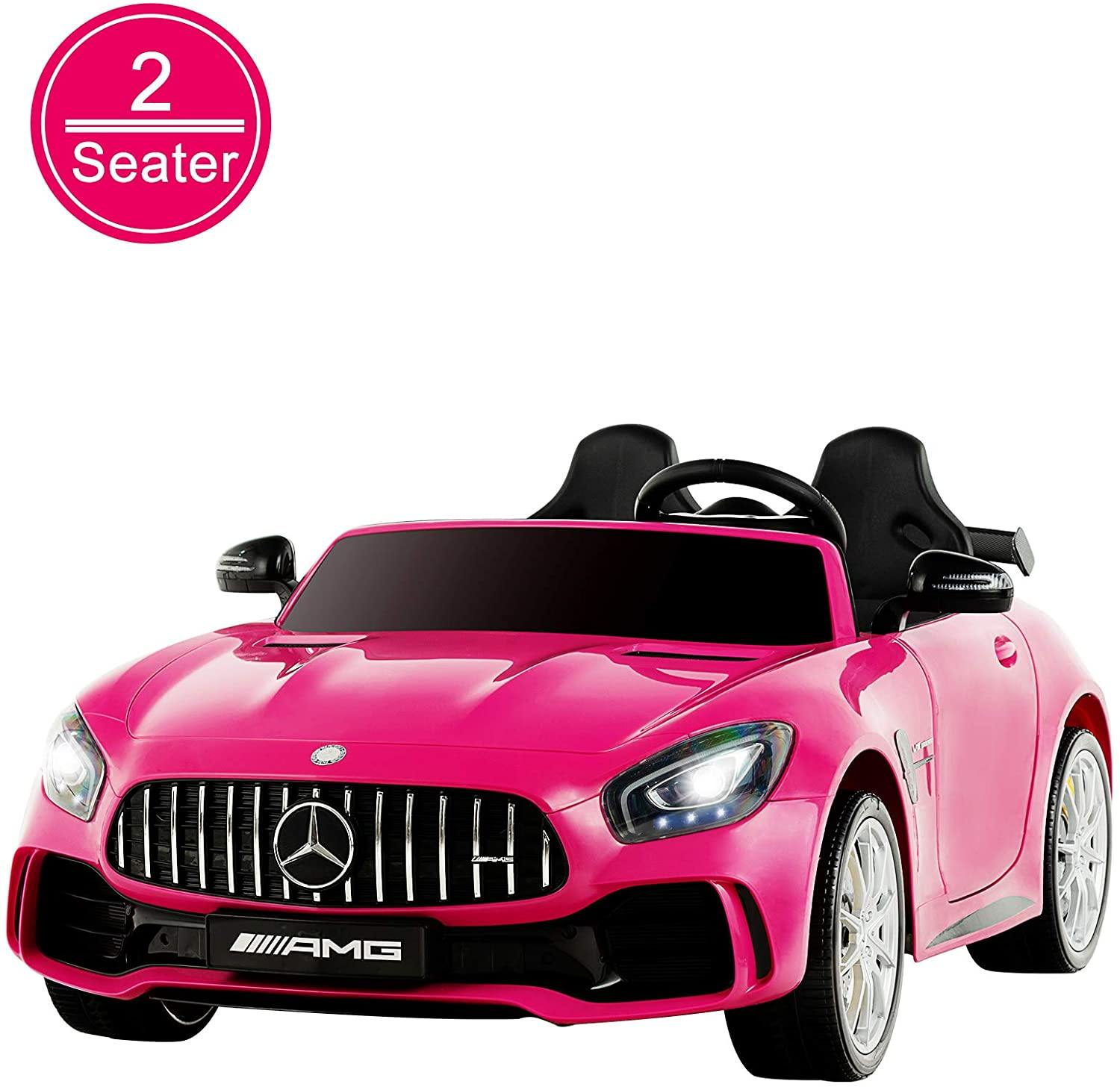 Uenjoy 2 Seater 12V Electric Kids Ride On Car Mercedes Benz AMG GTR Motorized Vehicles with Remote Control