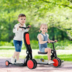 Load image into Gallery viewer, Uenjoy 6-in-1 Kick Scooter Kids Balance Bike Tricycle with Detachable Push Handle, Adjustable Height, Convertible Wheels