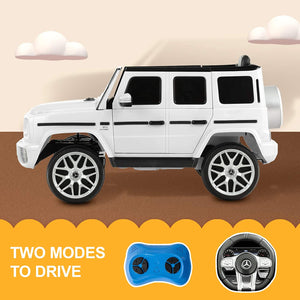 12V Kids Licensed Ride On Mercedes Benz G63 with Remote Control, LED Light, Music Player