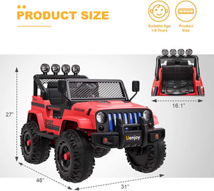 12V Kids Ride-On Truck with Remote Control, Colorful Light,Music Player|Model Sunshine
