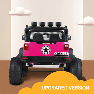 Uenjoy 12V Deluxe Model Large Kids Ride on Car,  2 Seats Battery Powered Motorized Truck, Baked Paint, with MP4 Function, Remote Control, Bluetooth
