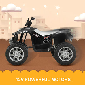 12V Kids Ride-On ATV with Bluetooth, Colorful Lights, Music Player