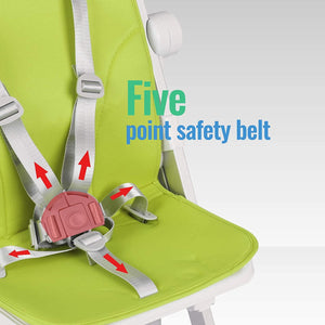 Uenjoy Baby High Chair Dining Chair, One-Click Folding, with Safety Belt