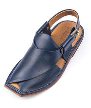 Load image into Gallery viewer, Blue Leather Sole