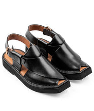 Load image into Gallery viewer, Peshawari Chappal black
