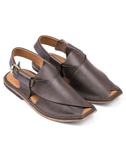 brown leather sole Peshawari  Chappal for men